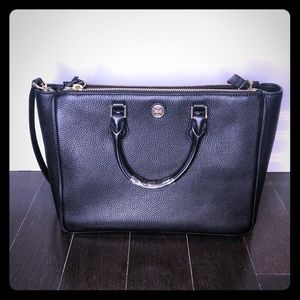 Large leather tory Burch tote